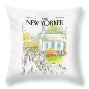 New Yorker September 8th, 1986 Throw Pillow