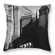 New York's Financial District Throw Pillow