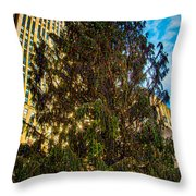 New York's Holiday Tree Throw Pillow