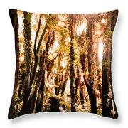 New Zealand Bush Throw Pillow