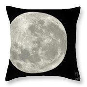 New Zealand Moon Throw Pillow