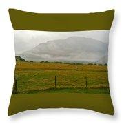 New Zealand Sheep Farm Throw Pillow