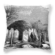 Newark Cemetery, 1876 Throw Pillow
