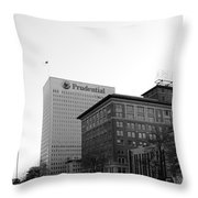 Newark  New Jersey In Black And White Throw Pillow
