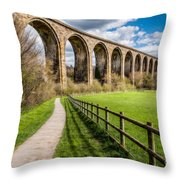 Newbridge Rail Viaduct Throw Pillow