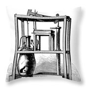 Newcomens Steam Engine, 18th Century Throw Pillow
