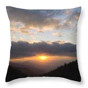 Newfound Gap Sunrise - D008233 Throw Pillow