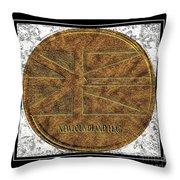 Newfoundland Flag - Brass Etching Throw Pillow