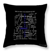 Newfoundland Labrador Canada Crosswords Throw Pillow
