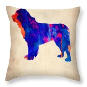 Newfoundland Poster Throw Pillow