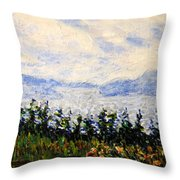 Newfoundland Up The West Coast Throw Pillow