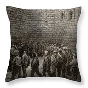 Newgate Prison Exercise Yard Throw Pillow