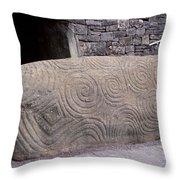 Newgrange Entrance Kerb Throw Pillow