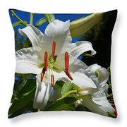 Newly Opened Lily Throw Pillow