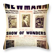 Newmann And His Show Of Wonders  Throw Pillow