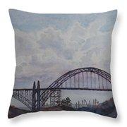 Newport Bay Bridge I Throw Pillow