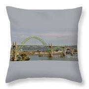 Newport Bay Bridge Throw Pillow