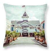 Newport Beach Balboa Main Street Vintage Picture Throw Pillow