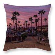 Newport Beach Sunset Throw Pillow