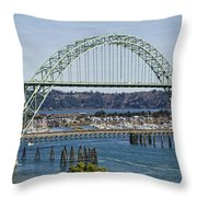 Newport Bridge Throw Pillow