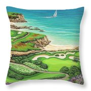Newport Coast Throw Pillow