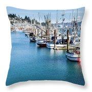 Newport Fishing Fleet  Throw Pillow