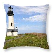 Newport Oregon Yaquina Lighthouse Throw Pillow