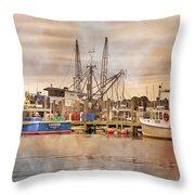 Newport Rhode Island Harbor II Throw Pillow