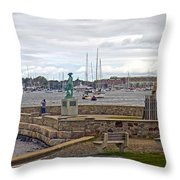 Newport Rhode Island Harbor Ivi Throw Pillow
