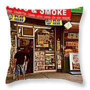 News And Smoke - Play Here Throw Pillow