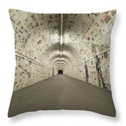 News In The Tunnel Throw Pillow
