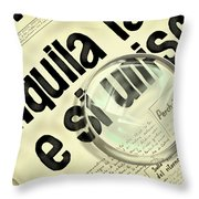 Newspaper Of July 22 1969 Throw Pillow