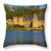 Newstead Abbey Gatehouse Throw Pillow