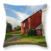 Newtown Barn Throw Pillow by Bill Wakeley
