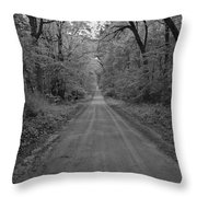 Next Stop..middle Of Nowhere Throw Pillow