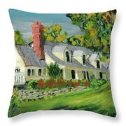 Next To The Wooden Duck Inn Throw Pillow
