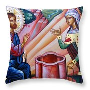 Next To Well Throw Pillow