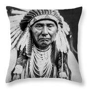 Nez Perce Indian Man Circa 1903 Throw Pillow by Aged Pixel