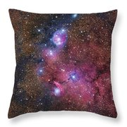 Ngc 6559 Emission And Reflection Throw Pillow