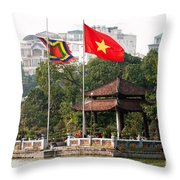 Ngoc Son Temple  01 Throw Pillow