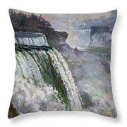 Niagara American Falls 2 Throw Pillow