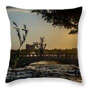 Niagara Dusk Throw Pillow