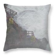 Niagara Falls - Cave Of The Winds Throw Pillow