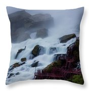 Niagara Falls At A Different Point Of View Throw Pillow