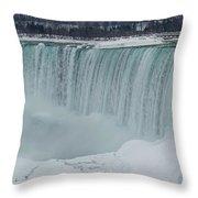 Niagara Falls Canada In Winter Throw Pillow