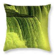 Niagara Falls Closeup Hot Wax Effect Throw Pillow