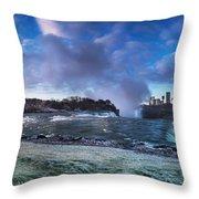 Niagara Falls Dramatic Panoramic Scenery Throw Pillow