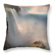 Niagara Falls From The American Side Throw Pillow