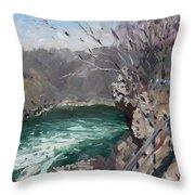 Niagara Falls Gorge Throw Pillow