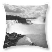 Niagara Falls Maid Of The Mist Throw Pillow